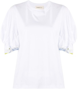 PortsPURE gathered-sleeve T-shirt