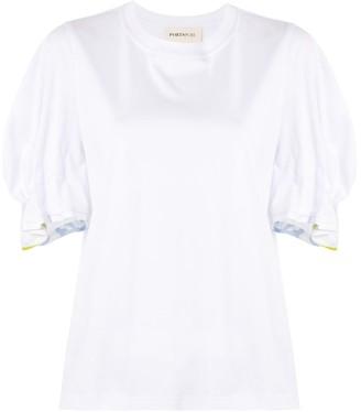 Portspure gathered-sleeve T-shirt