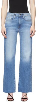 Frame Blue Denim Le California Raw Edge Jeans