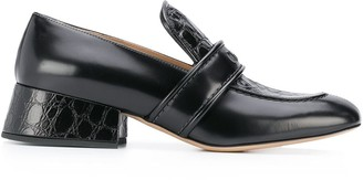 Chloé Logo Embossed Loafers