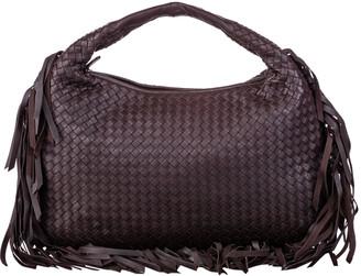 Bottega Veneta Intrecciato Fringed Leather Hobo Bag