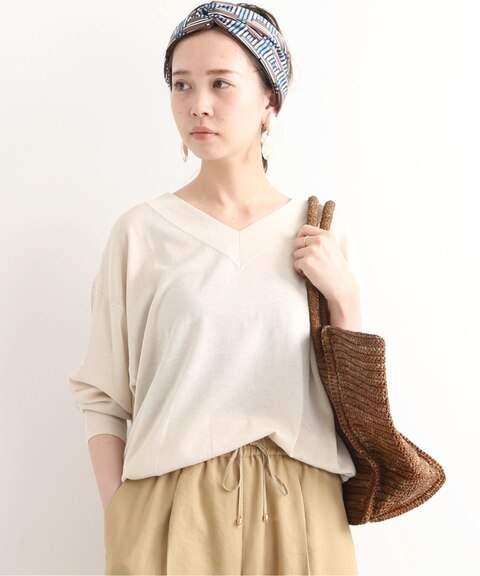 Iéna (イエナ) - IENA Silk cotton Vネック 2WAY プルオーバー◆
