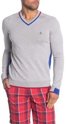 Original Penguin V-Neck Knit Sweater