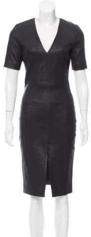 Cushnie et Ochs Leather Sheath Dress