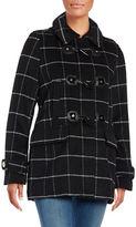 MICHAEL Michael Kors Wool-Blend Hooded Toggle Coat