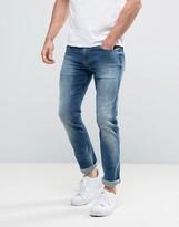 Calvin Klein Jeans Slim Straight Jeans in Elastic Mid