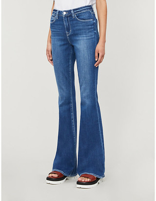 L'Agence Bell slim-fit flared high-rise jeans