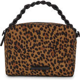 KENDALL + KYLIE KENDALL & KYLIE Lucy leopard print pony-hair cross-body bag