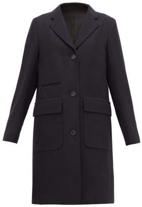 Margaret Howell Soft City Single-breasted Wool Coat - Womens - Navy