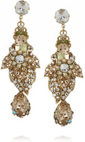 Swarovski Bijoux Heart La Terre D'Or gold-plated crystal earrings