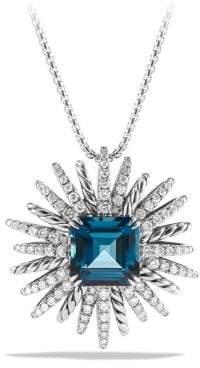 David Yurman Starburst Pendant Necklace With Hampton Blue Topaz And