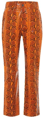 GRLFRND Shiloh snake-effect leather pants