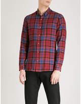 The Kooples Tartan slim-fit cotton shirt
