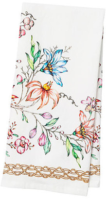 Juliska Floretta Tea Towel - White