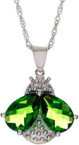 JCPenney FINE JEWELRY Sterling Silver Simulated Peridot Bee Pendant Necklace