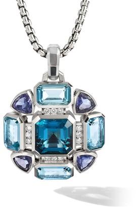 David Yurman Novella Mosaic Sterling Silver, Diamond & Mixed-Stone Pendant Necklace