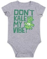 "Freeze Don't Kale My Vibe"" Bodysuit in Grey"
