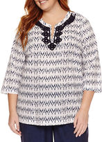 Liz Claiborne Tunic Top Plus