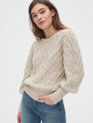 Gap Bobble Stitch Puff Sleeve Sweater