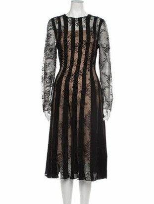 Oscar de la Renta 2020 Midi Length Dress w/ Tags Black