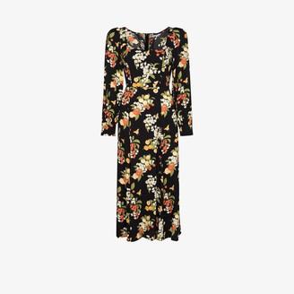 Reformation Alessi Fruit Print Midi Dress