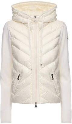 Moncler Wool Tricot Knit & Nylon Down Jacket