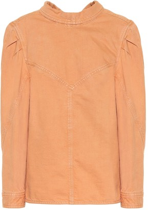 Isabel Marant Espera cotton-denim top