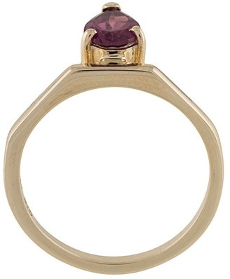 NATASHA SCHWEITZER 9kt yellow gold El garnet ring