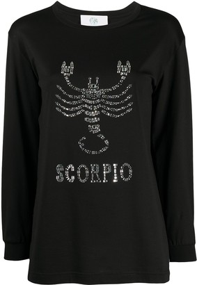 Alberta Ferretti Scorpio embellished long sleeve top
