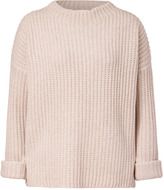 Vince Ivory Yak-Wool Crew Neck Pullover