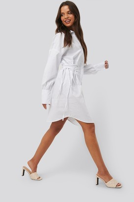 NA-KD Lace Up Shirt Dress