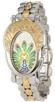 Brillier Women's 18-14 Royal Plume Peacock Inspired Swiss Genuine Fancy Multi-Colored Diamonds Watch