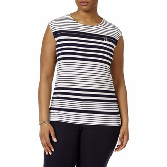 Calvin Klein Women's Plus Size Printed Top with Zipper