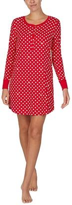 Kate Spade Brushed Jersey Long Sleeve Sleepshirt (Logo Dot) Women's Pajama