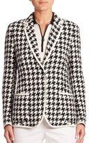 Akris Houndstooth Linen Jacket