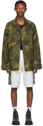 Off-White Khaki Paintbrush Camouflage Field Jacket