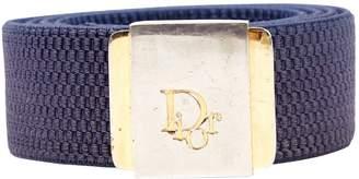 Christian Dior Blue Polyester Belts