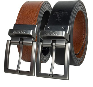 Kenneth Cole Reaction Men's 1 1/4 in. Feather Edge Dress Reversible Belt