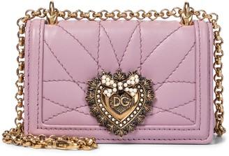 Dolce & Gabbana Devotion Micro leather crossbody bag