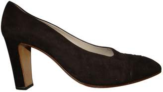 Chanel Brown Suede Heels