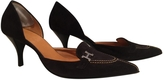 Hermes Black suede shoes