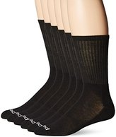 Peds Men's 6 Pack Cushion Crew Socks with Coolmax