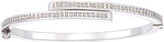 Diamond Mystique Platinum Over Sterling Silver Diamond Accent Bypass Bangle