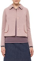 Akris Punto Women's Doll Collar Jersey Jacket