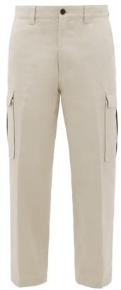 Acne Studios Pellegrin Cotton-canvas Cargo Trousers - Mens - Ivory