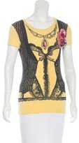 Love Moschino Embellished Graphic Print T-Shirt w/ Tags