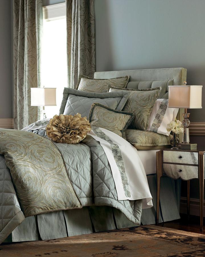 """Ann Gish Azure Rose"""" Bed Linens"""