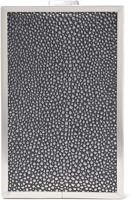 Halston Frame Large Stingray-effect Leather Box Clutch
