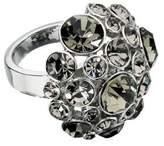 Fiorelli Costume Collection Ladies' R3070 Black Diamond/Clear Crystal Set Ring Adjustable