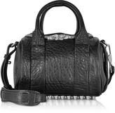 Alexander Wang Mini Rockie Black Pebbled Leather Satchel Bag
